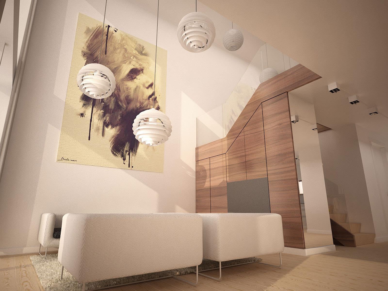复式楼家居装修效果图_艺术总是骄傲的图片