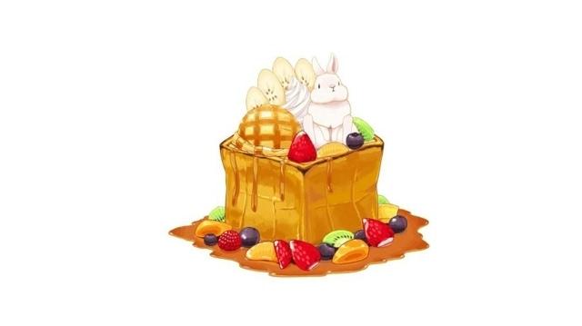 诱人甜品美食手绘桌面壁纸