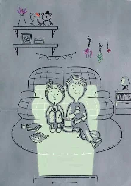 好看的人物简笔画大全,温暖的情侣简笔画