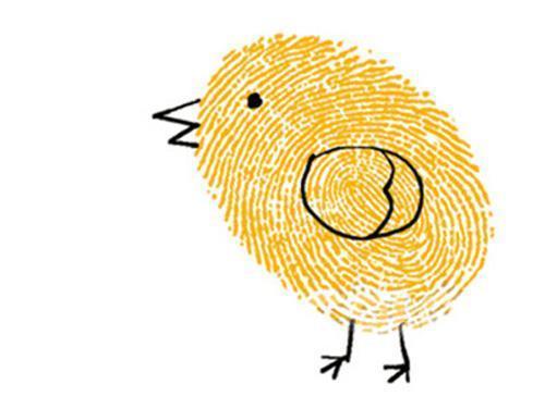亲子游戏创意手指画带宝宝奇思妙想儿童图片