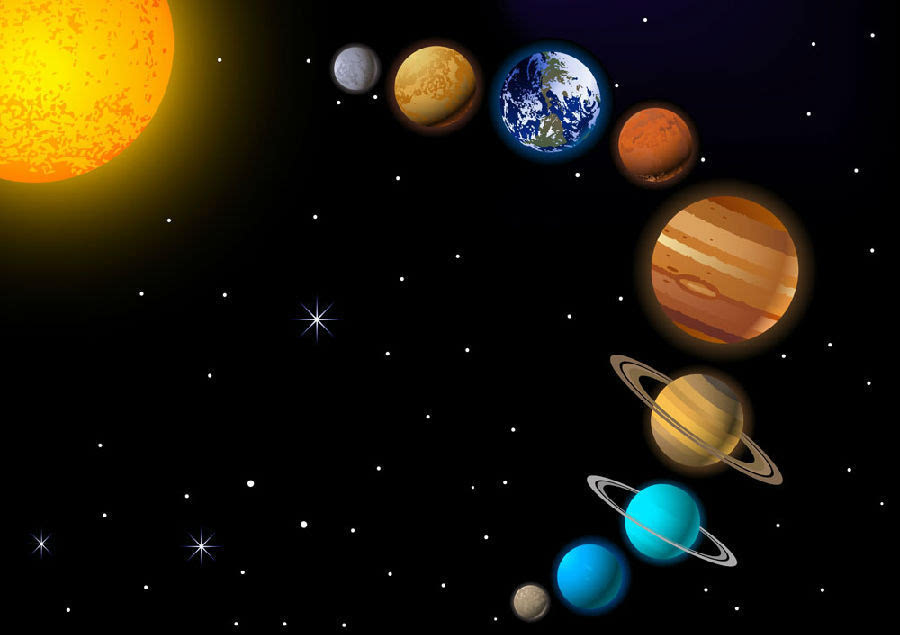我当年读书时把太阳系九大行星背的滚瓜烂熟.图片