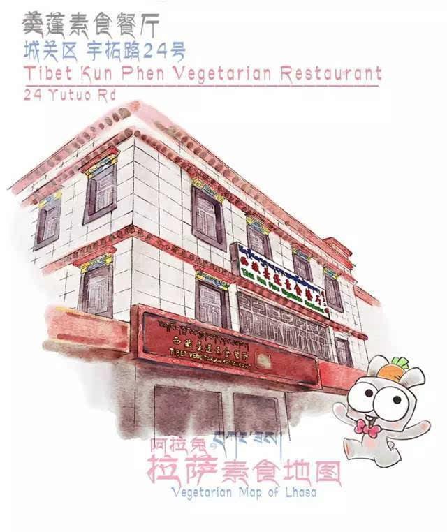 """拉萨""""素食餐厅""""手绘地图,吃素的朋友有福啦!"""