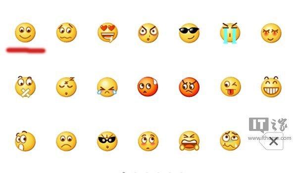 """表情符号,但不知大家有没有发现,微信和qq的""""微笑""""表情看起来并不那么图片"""