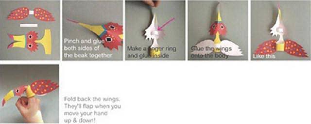 亲子手工手指卡通小动物制作图解教程
