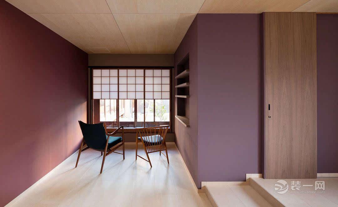 脱胎于传统日本民居的办公室装修 墙面超耐看