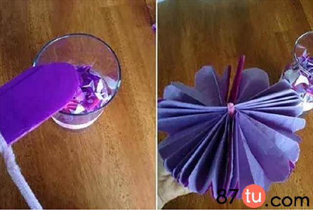 亲子手工简单的手拉花折纸图解教程