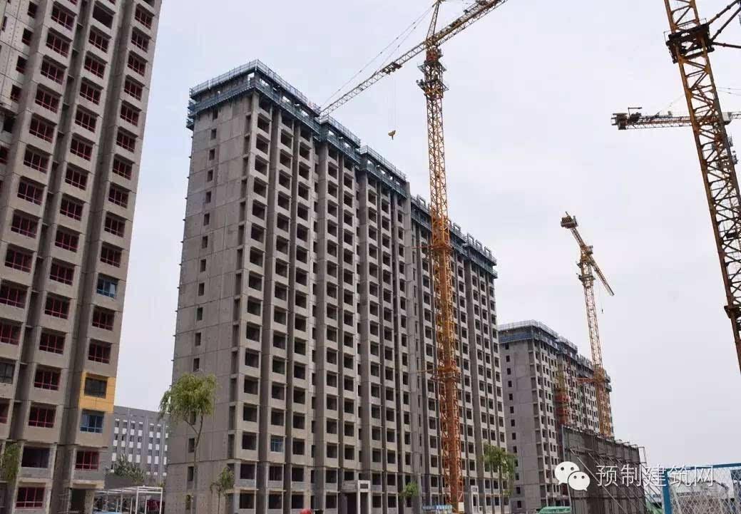 结构类型:住宅楼为装配整体式剪力墙结构;车库和公建为现浇砼框架