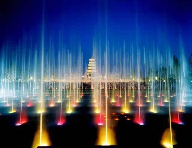 西安有 大雁塔音乐喷泉