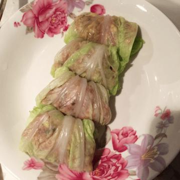 美味做的白菜包肉蒸完浇芡真是美食至极!-搜狐昭通妈妈图片