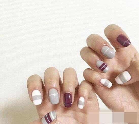 短指甲美甲图片推荐图 时下最流行的美甲样式