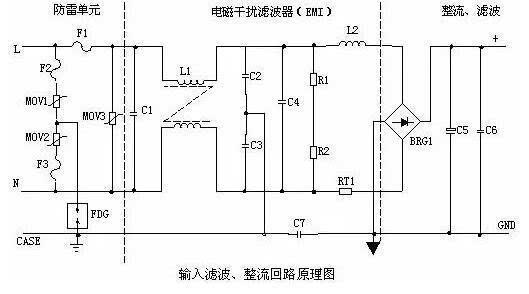 整流滤波电路,功率变换电路,pwm控制器电路,输出整流滤波电路组成.