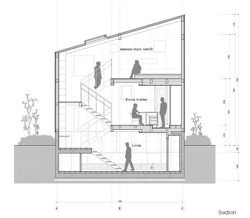 日式风格别墅室内设计图_钢与木的交错