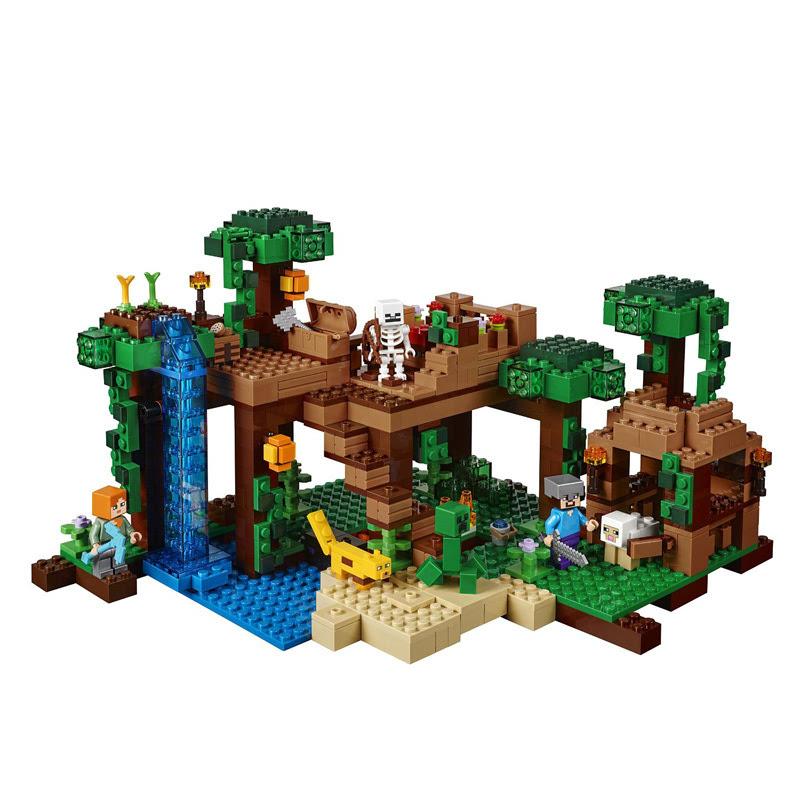 lego 乐高 我的世界系列 21125 丛林树屋 海淘图片