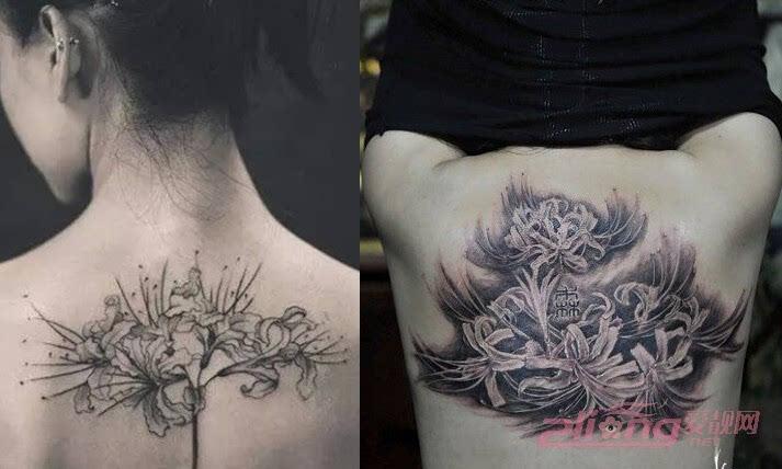 年轻少女都喜爱的彼岸花纹身图案大全鉴赏图片