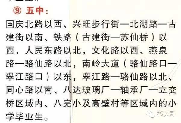 郴州最新周记打算住房看这里(划片划片学期全区域初中初中新的内含图片