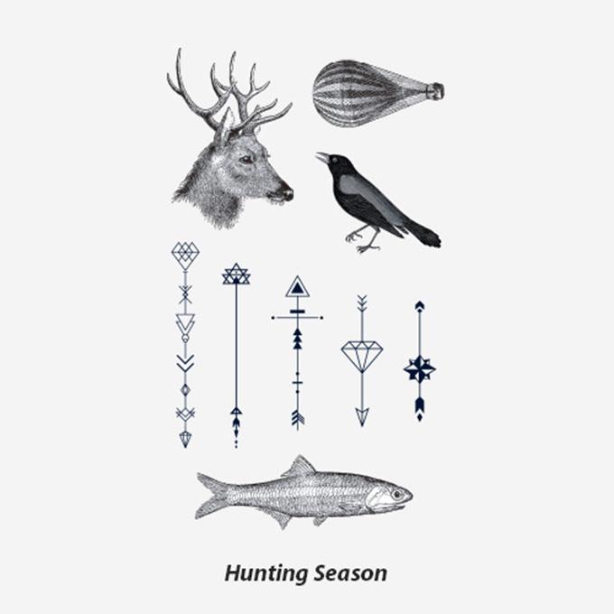 还是自由自在的小鱼,或者只是简单尖头,这样的纹身贴都充满文艺气息.