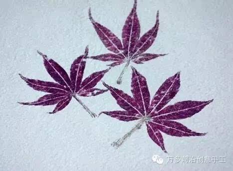 漂亮的植物拓印手工制作方法教程