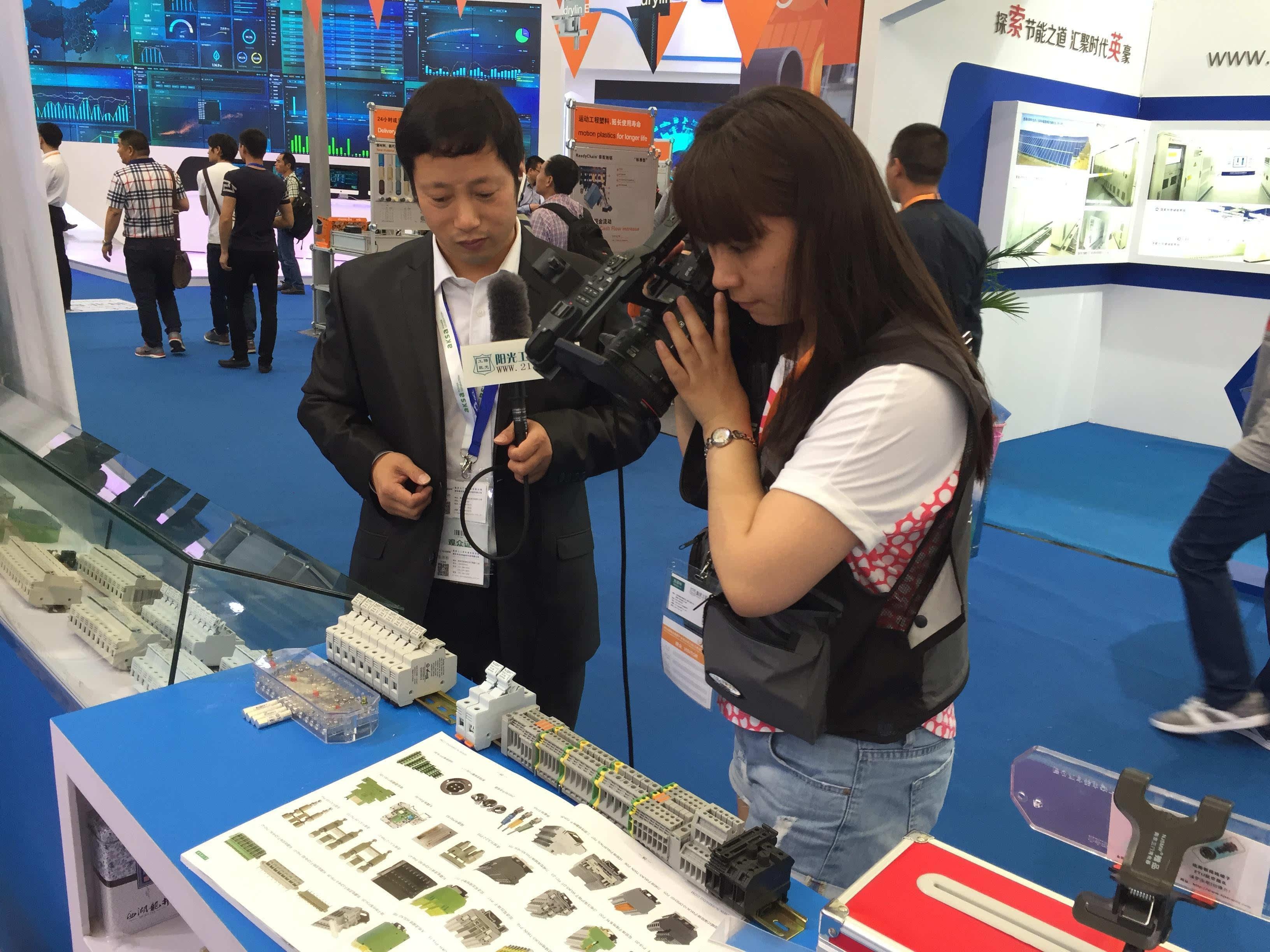 中国接线端子品牌亮相snec2016国际太阳能光伏展