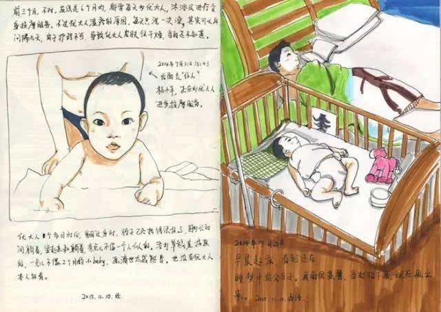 这位妈妈,用手绘记录了宝宝24个月的成长,暖哭了!