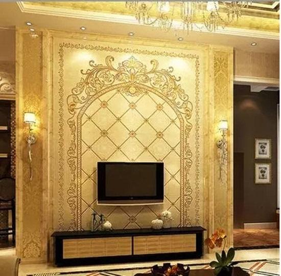欧式客厅背景墙 奢华时尚演绎中