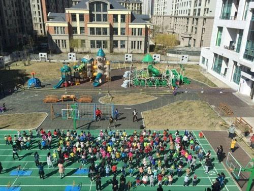 """体验到运动的快乐,群力园区积极参加总园举行的""""春,夏季运动会""""."""