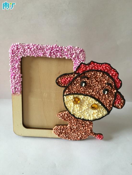 教你如何用轻粘土制作创意小驴相框的详细步骤