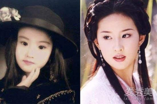 许晴刘亦菲倪妮童年照曝光 这些女星从小美到大