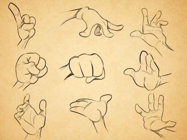 [动画入门教程]如何画好卡通人物的手(翻译理论)