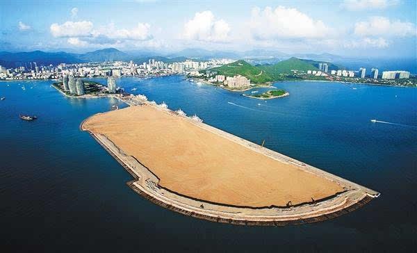 三亚凤凰岛邮轮港二期工程现雏形