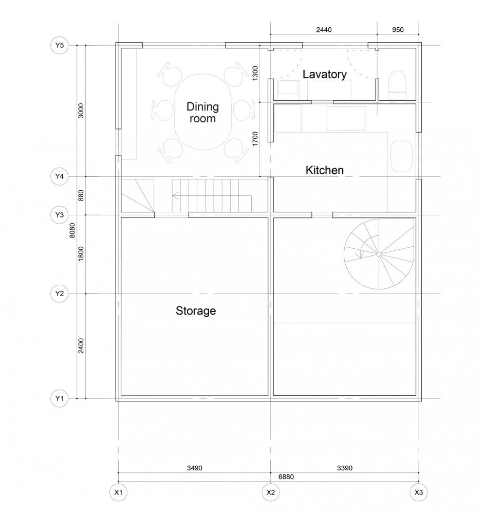 最令人惊喜的,是经济型别墅各空间的正方形窗口设计.