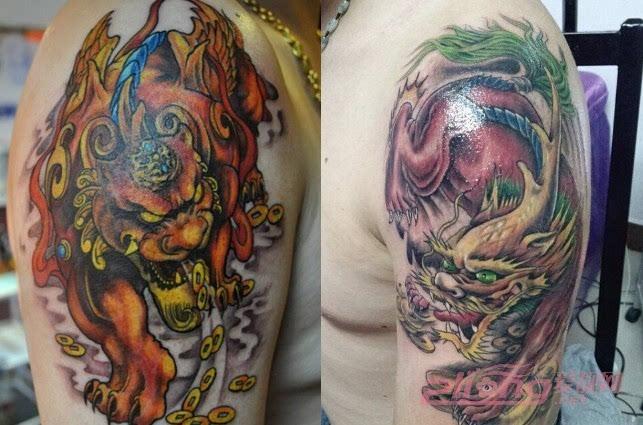 """寓意为""""招财进宝""""的貔貅纹身图案大全"""