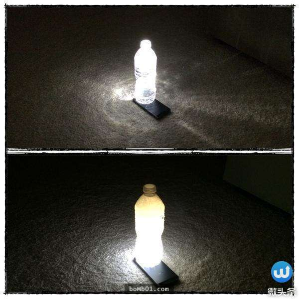 矿泉水瓶放手机上能变小夜灯?11个天才网友想出的创意图片