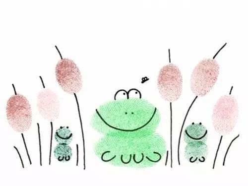 看看我们的idea吧:) 可爱小动物 指印加上几笔简单的涂鸦,竟然会变出