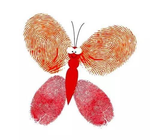 把全家的手指印,变成装饰画,温馨有爱! 相信吗?图片