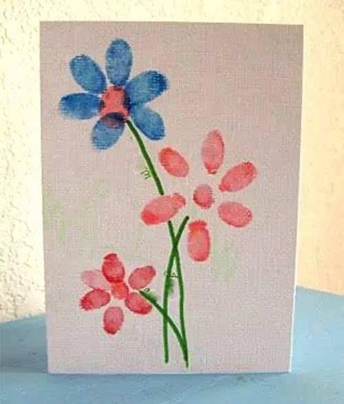 把全家的手指印,变成装饰画,温馨有爱!图片