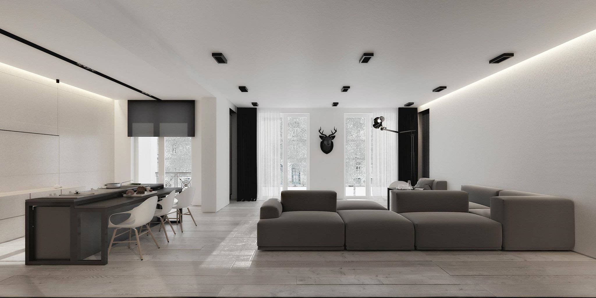 装修欧式住宅_黑白灰的颜色搭配技巧