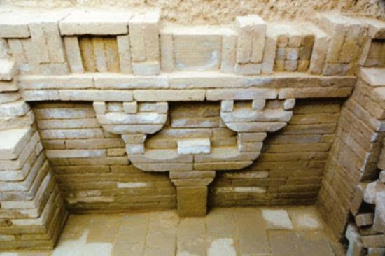 运城临猗汉墓出土砖砌仿木结构斗拱 在全国极为罕见