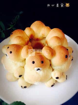手拉手小熊面包
