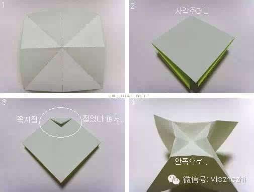 蝴蝶结的折法图解教程如下