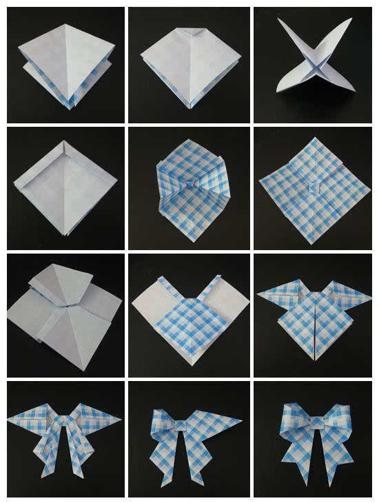 几款可爱的蝴蝶结折纸,我就知道你需要