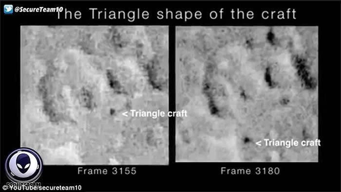 美国望远镜观测月球表面时发现怀疑是ufo的神秘三角状