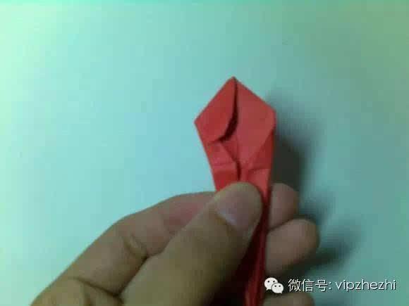 小花蓝折纸步骤图解法