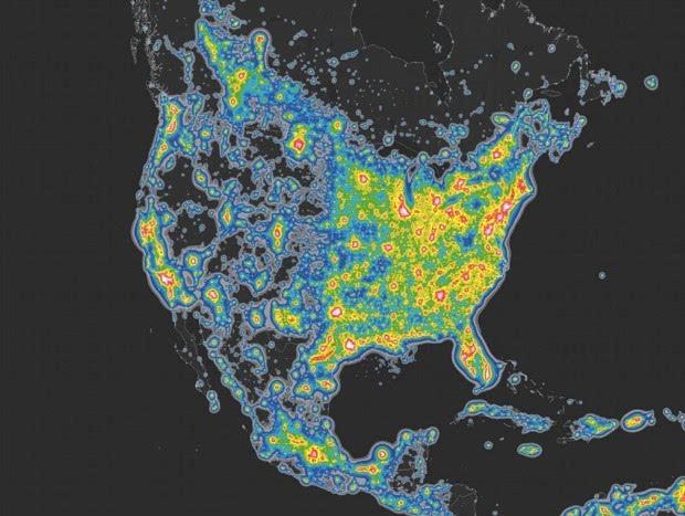 光污染严重:三分之一地球人看不到银河的照片 - 2