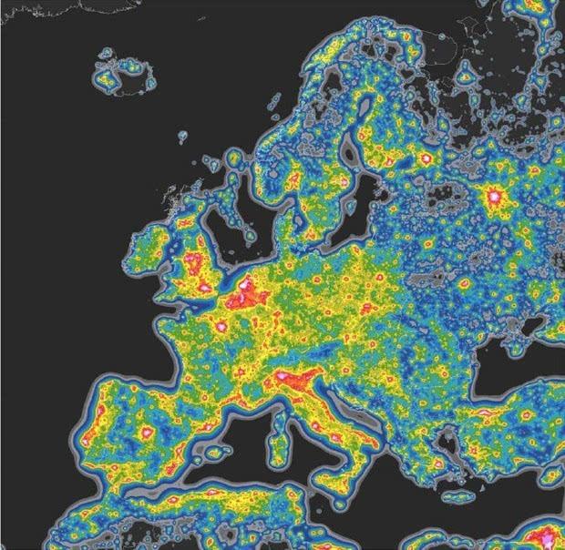 光污染严重:三分之一地球人看不到银河的照片 - 4