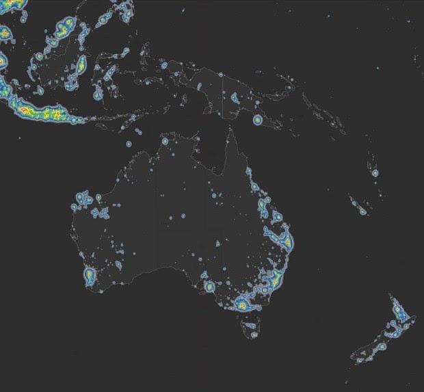 光污染严重:三分之一地球人看不到银河的照片 - 7