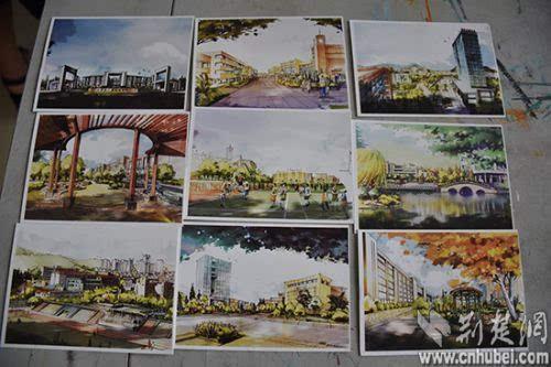 武汉一高校老师手绘明信片祝福毕业生