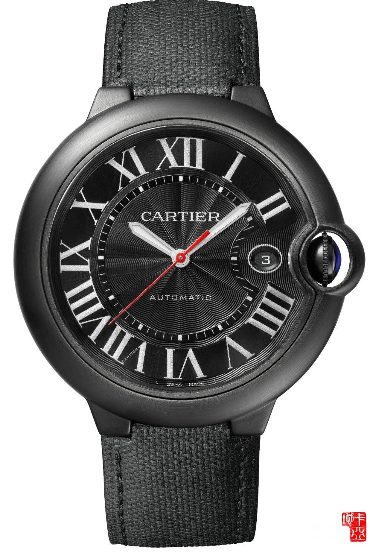 卡地亚Santos 100 Carbon腕表 蓝气球De Cartier Carbon腕表