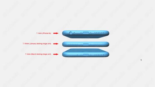 iPhone 7原型对比:底部取消3.5mm耳机端口的照片 - 4