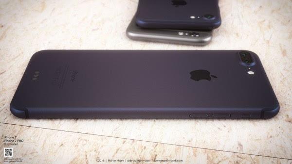 新鲜出炉的深蓝色 iPhone 概念设计的照片 - 4