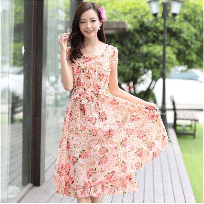 时尚雪纺连衣裙,穿出优雅气质